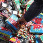 کشف ۸ هزار عدد انواع مواد محترقه در شهرستان بهار